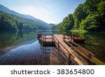 biogradsko jezero landscape.... | Shutterstock . vector #383654800