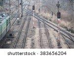 Electrified Railway Tracks Wit...