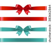 color bows set with gradient... | Shutterstock .eps vector #383662864