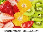 eat a colorful variety of... | Shutterstock . vector #383666824