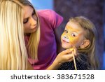 Pretty Blond Woman Painting Th...