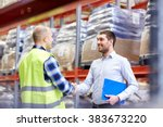 wholesale  logistic  people and ... | Shutterstock . vector #383673220