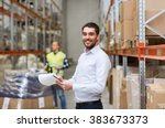 wholesale  logistic  people and ... | Shutterstock . vector #383673373