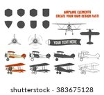 vintage airplane symbols.... | Shutterstock .eps vector #383675128