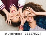 people  friends  teens and... | Shutterstock . vector #383675224