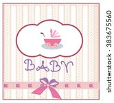 vector illustration of baby... | Shutterstock .eps vector #383675560