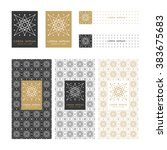 collection of design elements... | Shutterstock .eps vector #383675683