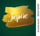 green and gold calligraphy... | Shutterstock .eps vector #383676469