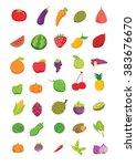 fruits cartoon vector icon... | Shutterstock .eps vector #383676670