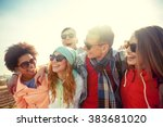 tourism  travel  people ... | Shutterstock . vector #383681020
