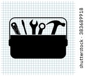 toolbox vector icon | Shutterstock .eps vector #383689918