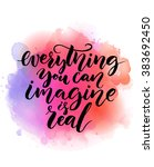 everything you can imagine is... | Shutterstock .eps vector #383692450