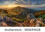 slovakia mountain from peak... | Shutterstock . vector #383694628