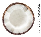 Coconut. Half Isolated On Whit...