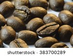 Coffee Beans Close Up Image Of...