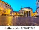 Pantheon At Night  Rome  Italy