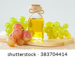 natural grapeseed oil for... | Shutterstock . vector #383704414