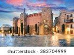 Panorama Of Ancient Roman Gate...