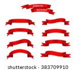 set of ribbons.ribbon banner... | Shutterstock .eps vector #383709910