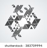 vector hipster triangle... | Shutterstock .eps vector #383709994