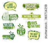 set of logos  stamps  badges ...   Shutterstock . vector #383716258
