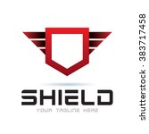 logo shield icon element... | Shutterstock .eps vector #383717458