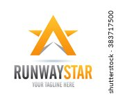 logo runway star icon element... | Shutterstock .eps vector #383717500