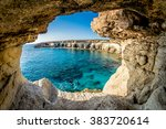 sea caves near ayia napa ... | Shutterstock . vector #383720614