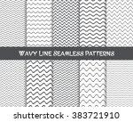 vector wavy line seamless... | Shutterstock .eps vector #383721910