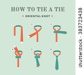 instructions on how to tie a... | Shutterstock .eps vector #383723438