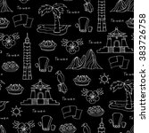 vector seamless pattern with... | Shutterstock .eps vector #383726758