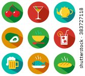 set of food and drinks icons... | Shutterstock . vector #383727118