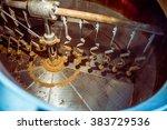inside view of a beer tank... | Shutterstock . vector #383729536