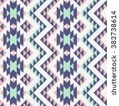 seamless pattern with ethnic... | Shutterstock .eps vector #383738614