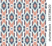 seamless pattern with ethnic... | Shutterstock .eps vector #383738620