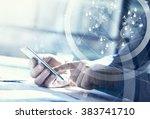 business concept. businessman... | Shutterstock . vector #383741710