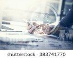 business concept. businessman... | Shutterstock . vector #383741770