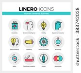 line icons set of human... | Shutterstock .eps vector #383742028