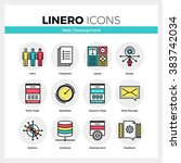 line icons set of web... | Shutterstock .eps vector #383742034