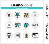 line icons set of web coding... | Shutterstock .eps vector #383742040