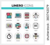 line icons set of web studio... | Shutterstock .eps vector #383742079