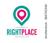 logo right place icon element... | Shutterstock .eps vector #383742340