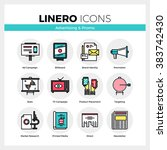 line icons set of advertising...