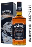 Small photo of FONTE, VENICE, ITALY - JANUARY 2016: American Whiskey Jack Daniel's Master Distiller 100cl, alc.43%