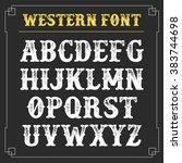 western retro alphabet vector