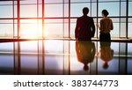 team of successful business... | Shutterstock . vector #383744773