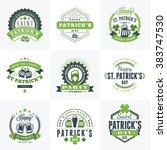 set of st. patricks day retro... | Shutterstock .eps vector #383747530