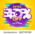 sale banner design. vector... | Shutterstock .eps vector #383749180