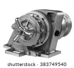 new horizontal anchor windlass... | Shutterstock . vector #383749540