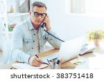 some notes for the day.... | Shutterstock . vector #383751418